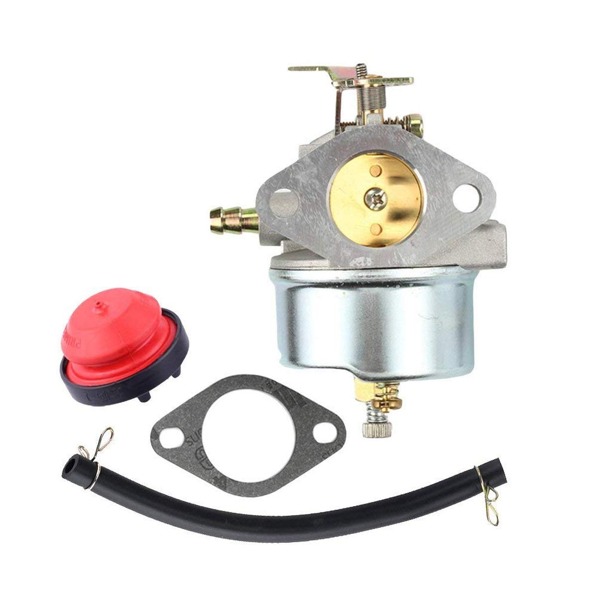 xiscose Carburetor 632370A with Gasket Fuel Pump Line Clamps for Tecumseh HM100 HMSK90 HMSK100 Cub Cadet Craftsman Toro 38555 38556 7HP 8HP Carb Snow Blower 632370 632110 china