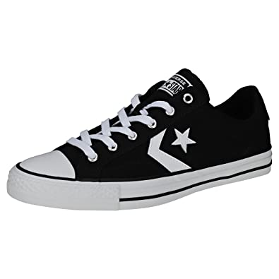Converse Star Player Ox Mens Trainers Black White - 8 UK a7a2a8930