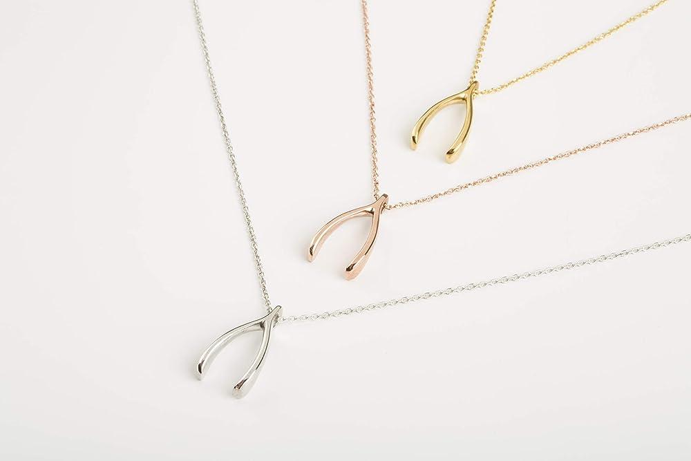 Wishbone Pendant Good Luck Charm Wishbone Charm Wishbone Necklace Pendant SALE 10pcs NP-1539 Matt Gold Plated Lucky Pendant