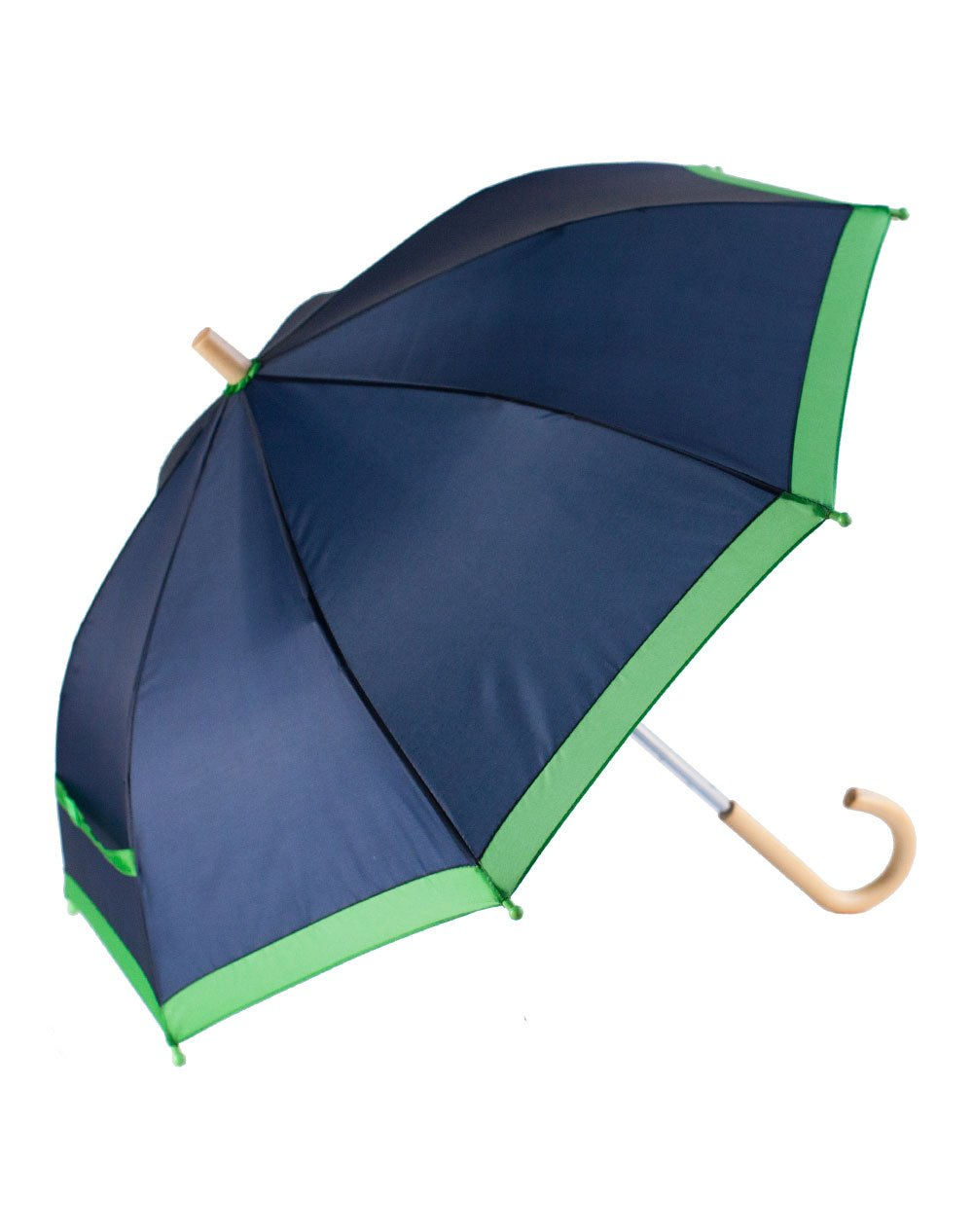 OAKI Double Layer Waterproof Kids Umbrellas with Windproof, UV Protection and C-Shaped Kid's Easy Hold Handle (Navy)