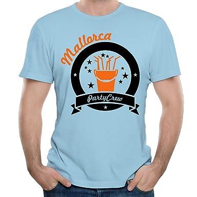 Amazon.com: MA GLLER Design Mallorca Party Crew (2c) T ...