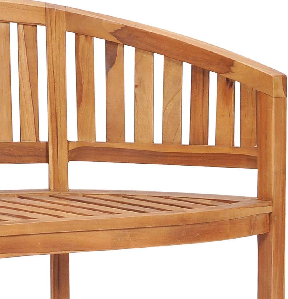 Outdoor Garden Patio Park Seat 120 cm Solid Teak Wood Furniture Bench 2 Seater Garden Bench Tidyard Banana Bench
