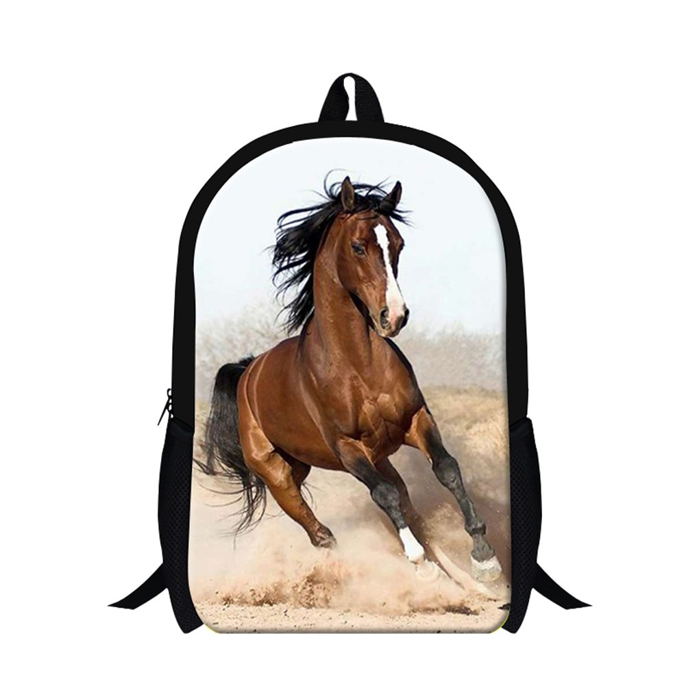 (Horse11) - Generic Plush Horse Printing School Backpack for Students Mens Fashion Hiking Bags  Horse11 B01NBEQK2L