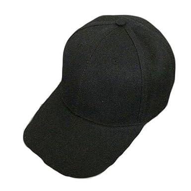 7669bcbff3c31 Amazon.com  BSGSH Unisex Baseball Cap Adjustable Plain Dad Hat Sports Outdoor  6 Panel Hat For Women Men (Black)  Clothing