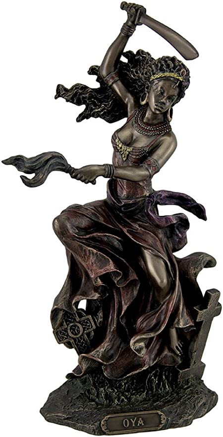 wu OYA African Goddess of Wind Storm /& Transformation Statue