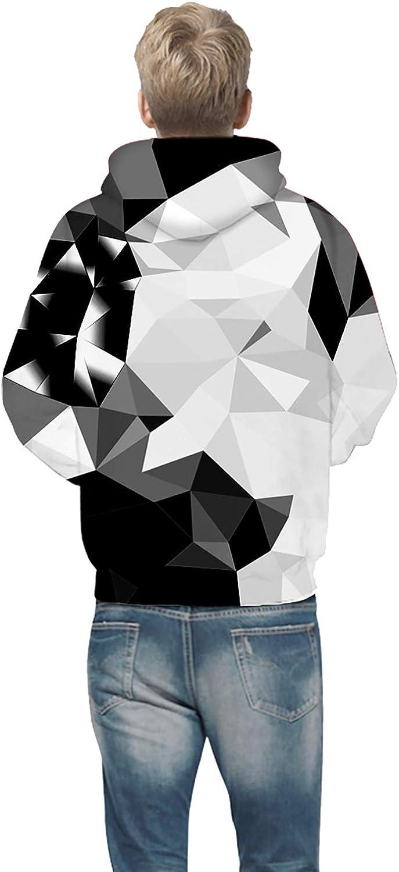 OYABEAUTYE Boys Teen 3D Print Graphic Sweatshirts Long Sleeve Pullover Hoodies with Pocket