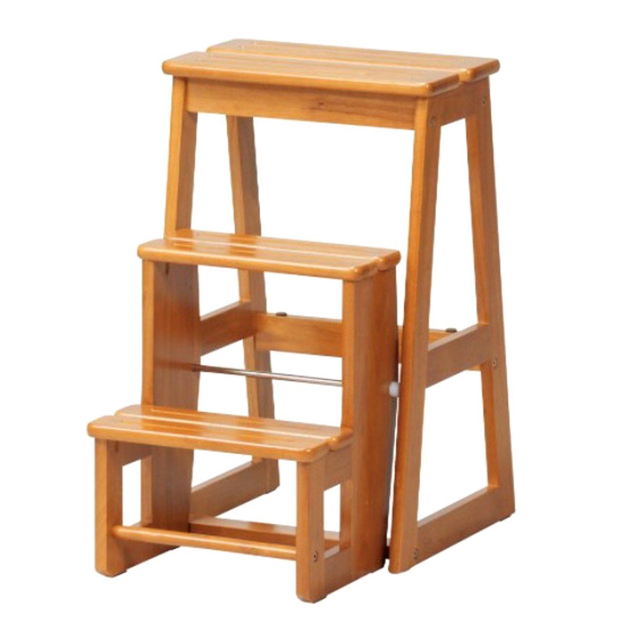 踏み台 折りたたみ 木製 ステップ台 チェア すべり止め 子供 3段 B07C1Q3TF6  3段