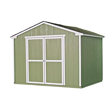 Amazon.com: Cumberland 10 ft. x 8 ft. Wood Shed Kit with Floor Frame ...