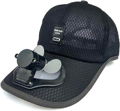 sombrero de Ventilador Solar Adulto Ventilador Protector Solar ...