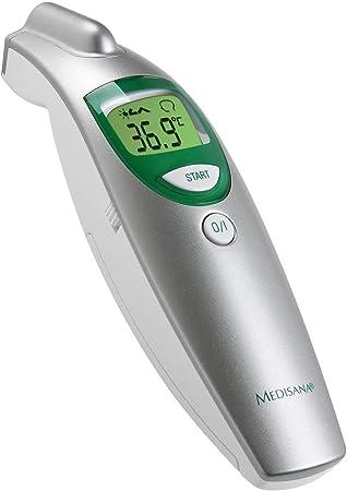 medisana FTN thermomètre frontal numérique 6 en 1 pour bébés, enfants et adultes, thermomètre clinique avec alarme visuelle de fièvre et fonction de