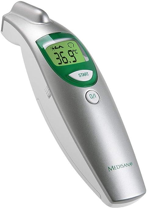 medisana FTN digital 6 en 1 termómetro clínico para bebés, niños y adultos, oral, axilar o rectal, temperatura ambiente y temperatura del fluido con ...