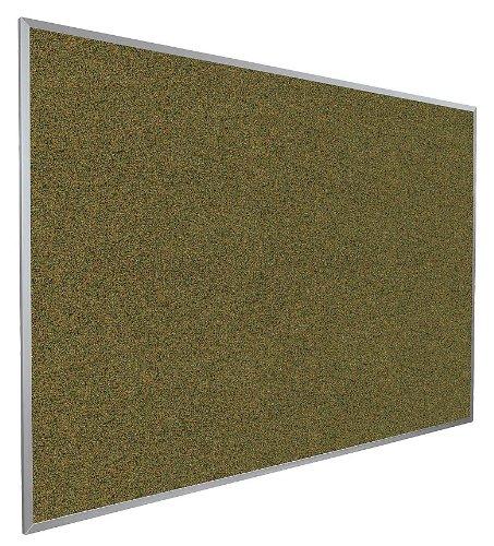 Balt / MooreCo - 300AG-94 - Green Splash Cork Bulletin Board, Aluminum Frame Material, 72 Width, 48 Height ()