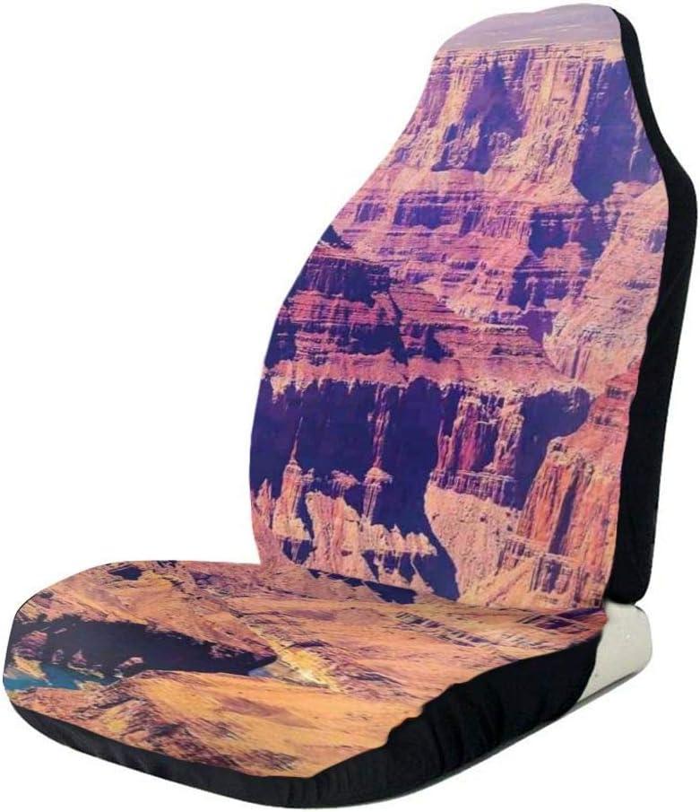 Cubiertas de los asientos delanteros del automóvil Protector del vehículo, Gran Cañón en Arizona con elevaciones de la base Paisaje tribal sublime de América del Norte, apto para la mayoría de los aut