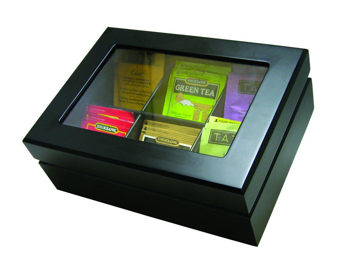 Wooden Tea Bag Chest Update International TBC-6BK