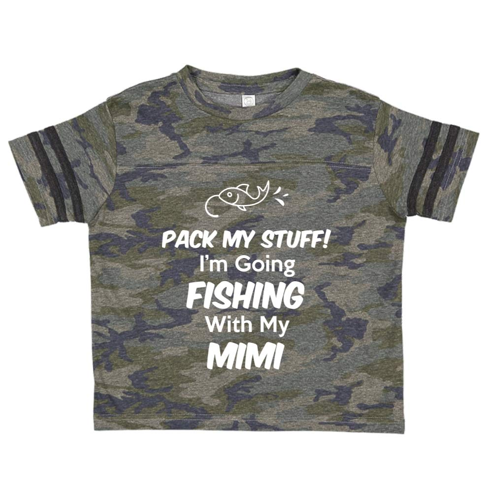 Pack My Stuff Toddler//Kids Sporty T-Shirt Im Going Fishing with My Mimi