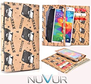  Dream Bigger  Wallet Cover Phone Case Very Slim  Ty Vek  May Fit HTC Desire P + NuVur &153; Keychain  ESMLTVN2 