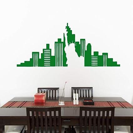 Adesivi Murali Skyline New York.New York City Skyline Adesivi Murali Soggiorno Sala Da Pranzo