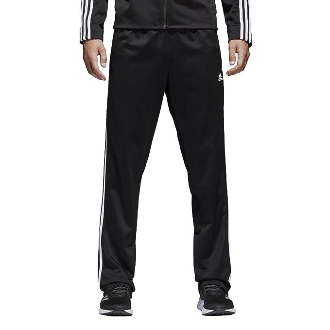 adidas Men's Big & Tall Essentials 3 Stripes Regular Fit Tricot Pants BlackWhite 1 Large 34 Tall
