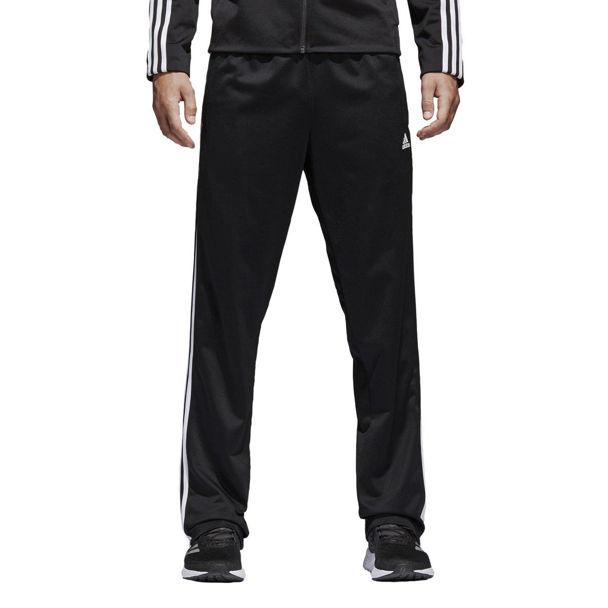 89fca22af Galleon - Adidas Men's Big & Tall Essentials 3-Stripes Regular Fit Tricot  Pants Black/White 1 XXXX-Large 34 Tall 34