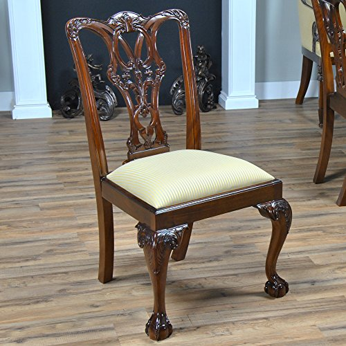 Ball Claw Furniture - NDRSC048 PAIR of Ball and Claw Mahogany Side Chairs by NIAGARA FURNITURE