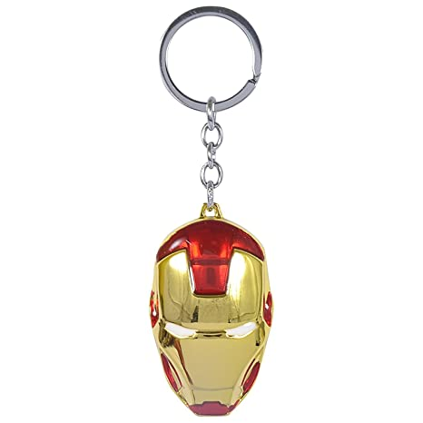 Stunning Marvels/Avengers Iron Man Face Metal Keychain ...