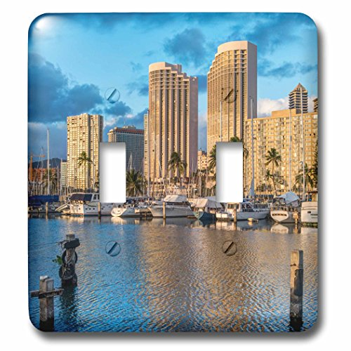 Danita Delimont - Hawaii - USA, Hawaii, Oahu, Honolulu, Ala Moana Marina - Light Switch Covers - double toggle switch - Moana Ala Hawaii