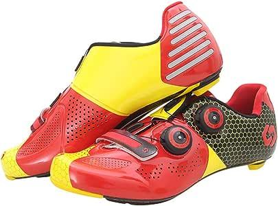 CFGUENITTJ Women & Men Professional Race Carbon Fiber Cycling Lock Shoes Ultralight Wear-Resistant Outdoor Road Riding Shoes
