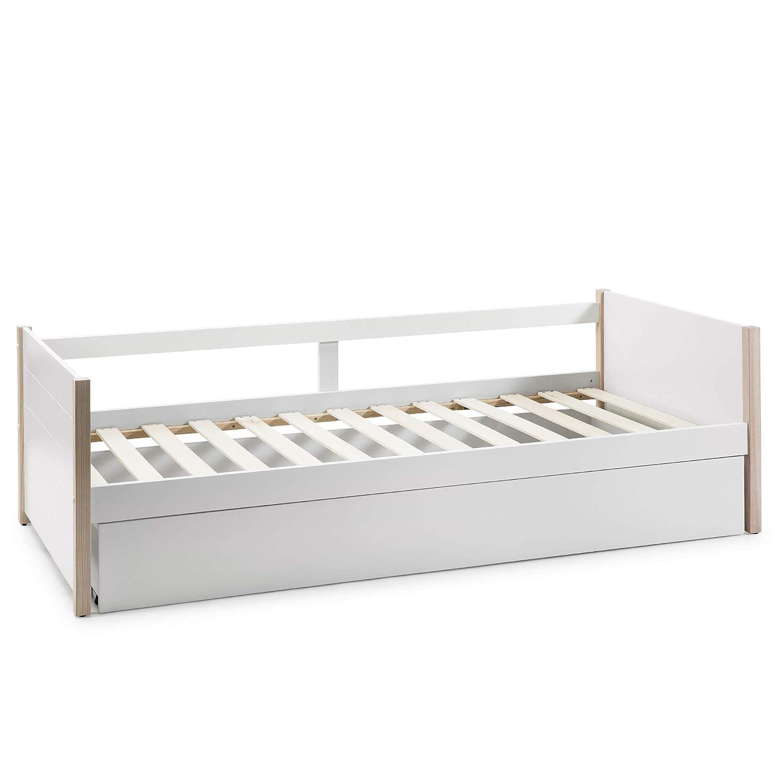 98,5cm y 62cm Ancho Alto Largo VS Venta-stock Cama Nido Juvenil Daniela 90X190 Color Blanco Dimensiones: 200cm