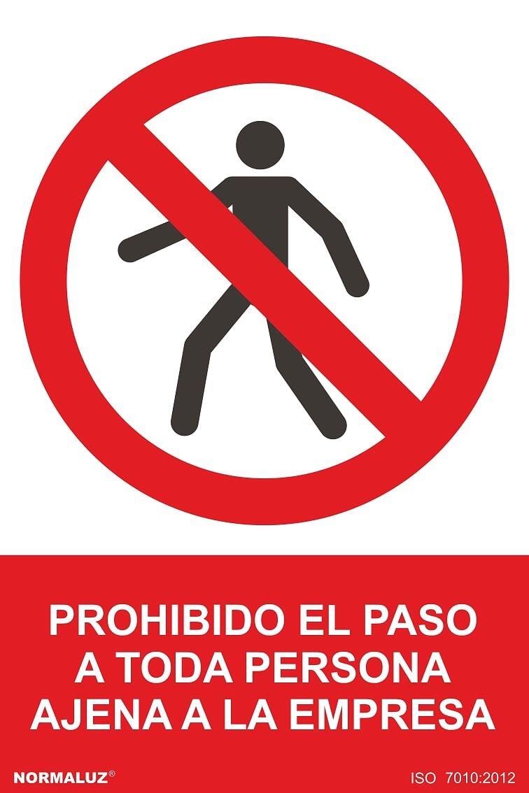 Normaluz RD41019 - Cartela PVC Prohibido El Paso
