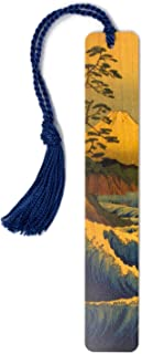 product image for Personalized Mount Fuji Painting, Wooden Bookmark with Tassel - Search B07HQZSZCC for Non-Personalized Version