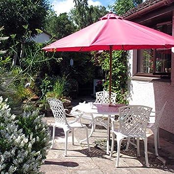 Lazy Susan - Table Ronde 120 cm Alice et 4 chaises de Jardin - Salon de  Jardin en Aluminium moulé, Blanc (chaises Rose, Coussins Beiges)