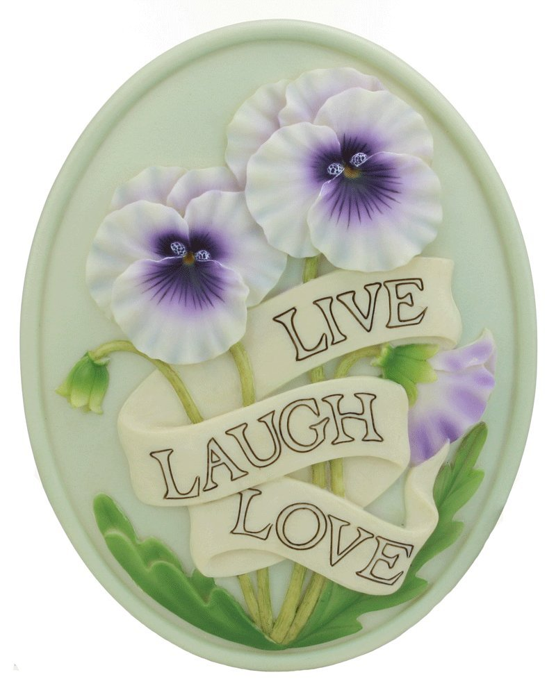 Live, Laugh, Love Outdoor Greeting or Welcome Plaque