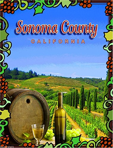 MAGNET Sonoma Valley County California Wine United States Travel Advertisement Magnet (Best States For Wine)