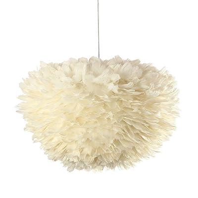 GBT créatifs plumes blanches Nid style nordiques Salon lustre salle à manger chambre lampe enfants