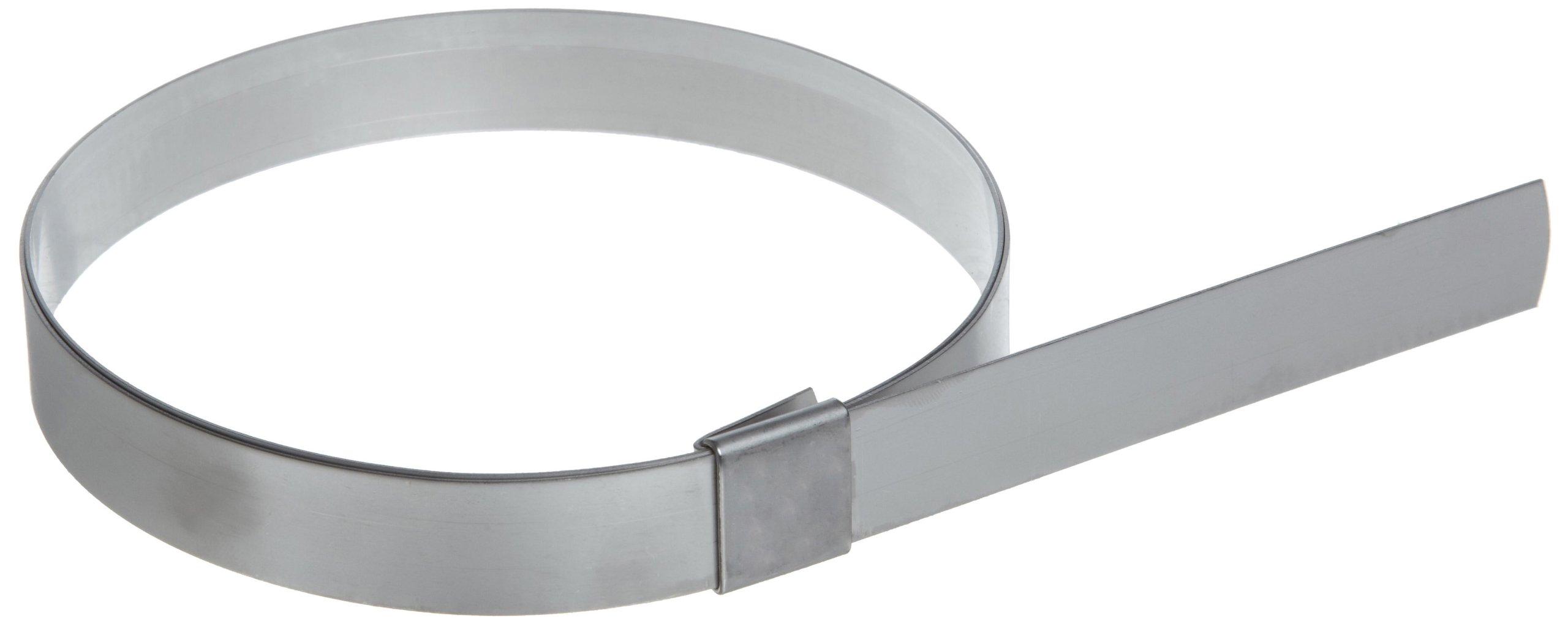 BAND-IT CP12S9 5/8'' Wide x 0.025'' Thick 3'' Diameter, 201 Stainless Steel Center Punch Clamp (50 Per Box)