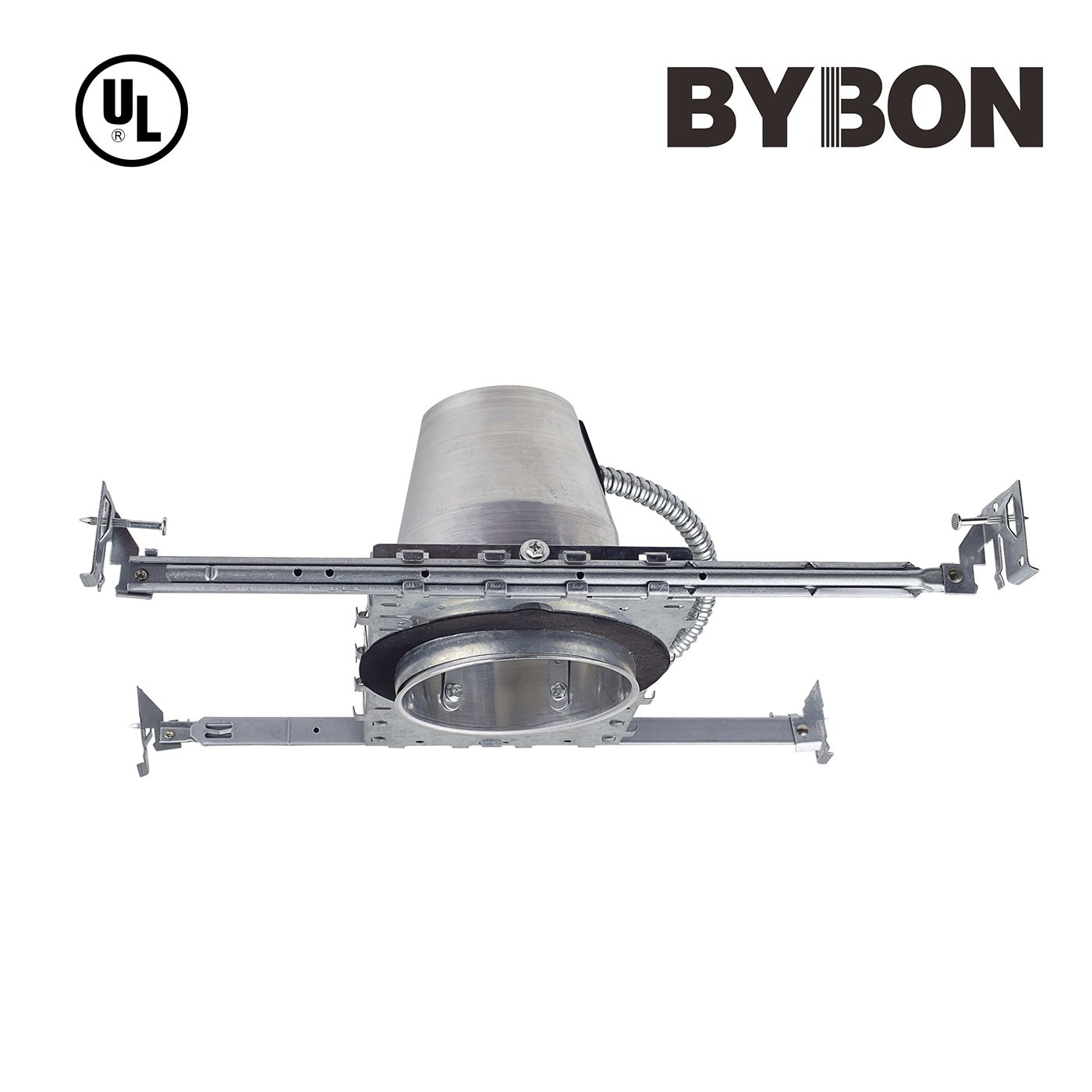Bybon 4'' Recessed Lighting LED TP24 New Construction ICAT Housing-1 Pack (UL Listed)