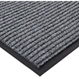 """Durable Corporation Spectra-Rib Entrance Mat, for Indoor and Vestibule Areas, 48"""" Width x 72"""" Length x 3/8"""" Thickness, Gray"""