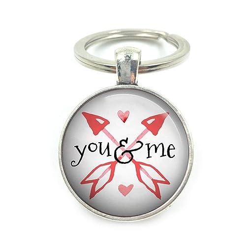 Plateado San Valentín joyería llavero| valentines llavero ...