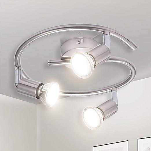 Gr4tec Foco LED para techo luz de techo en forma espiral Lámpara de techo LED Plafón