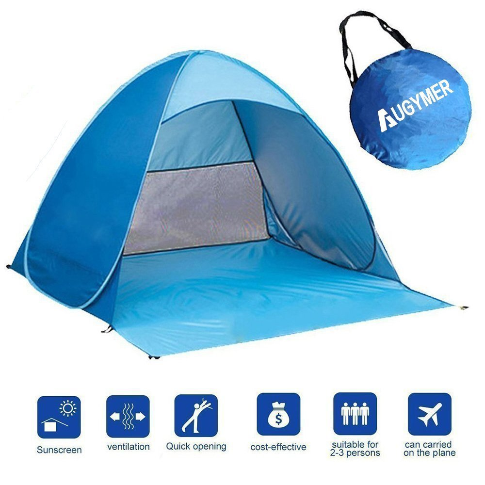 Fold Out Shade Shelters : Pop up beach tent portable person folding sun shade kids