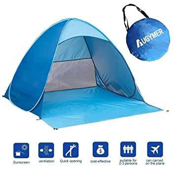 Pop Up Beach Tent Augymer UV Protection Portable 2 Person Folding Pop Up Sun Shelters  sc 1 st  Amazon UK & Pop Up Beach Tent Augymer UV Protection Portable 2 Person Folding ...