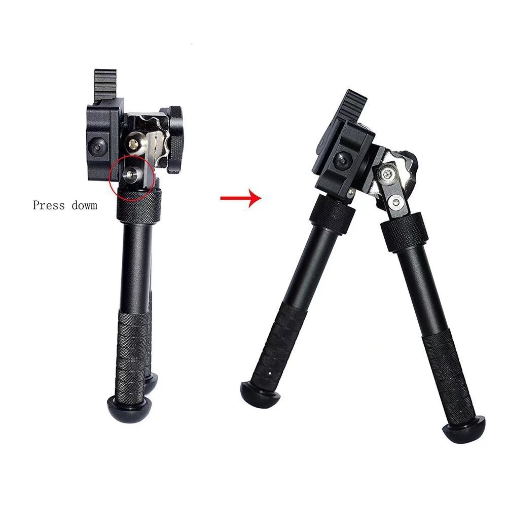 JahyShow Tactical Rifle Bipod Outdoors CNC QD Adjustable Fit Picatinny Rail (Black, 6.5 - 9 inch) by JahyShow (Image #6)