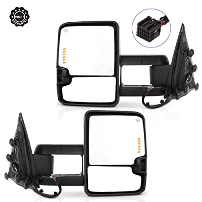 Ineedup Tow Mirrors Rearview Mirrors Fit for 2014-2020 Chevy Silverado 1500 GMC Sierra 1500 Chevy Silverado/GMC Sierra 2500 HD 3500 with Left Right Side Power Operation Heated with Turn Signal Light: Automotive