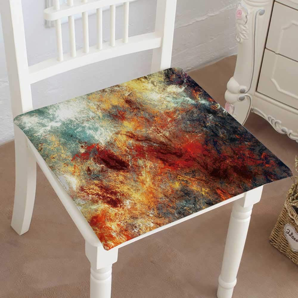 Mikihome Classic Decorative Chair pad Seat Bright Splashes Paint Color Texture Multicolor Cushion with Memory Filling 16''x16''x2pcs