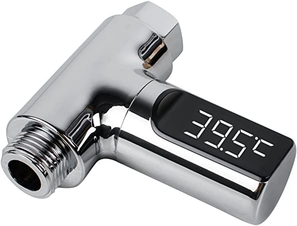 LED Digital Shower Thermometer 360°Rotatable Real-Time Water Temperature Monitor