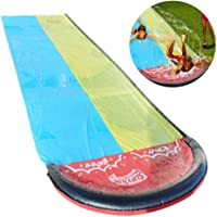 Lawn Water Slides, Double waterslide water slide mat, Slip and Slide Extreme Giant Backyard Waterslide Summer Toys