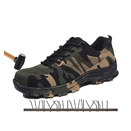 14f525f3e6e51 Disnation Indestructible Shoes Men Safety Work Boots|Fashion Camouflage  Spring Breathable Mesh Steel Toe