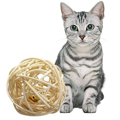 AOLVO Catnip Matatabi - Pelota de Juegos para Gatos, Juguete de ...
