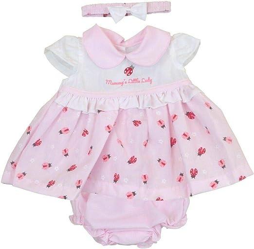 Nursery Time BNWT Tiny Premature Preemie Baby Girl Little Ladybird Summer Dress Set Clothes