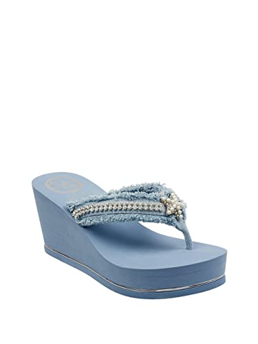 Guess Sequins Wedge Flip Flops KekO02DQ